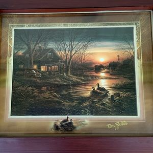 Terry Redlin Shoreline Friends fall cabin print